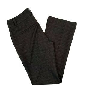 Ann Taylor Gray Pinstripe Pants Stretch Size 0P